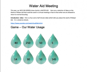 Water Aid Resource