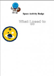 Beaver Space Badge